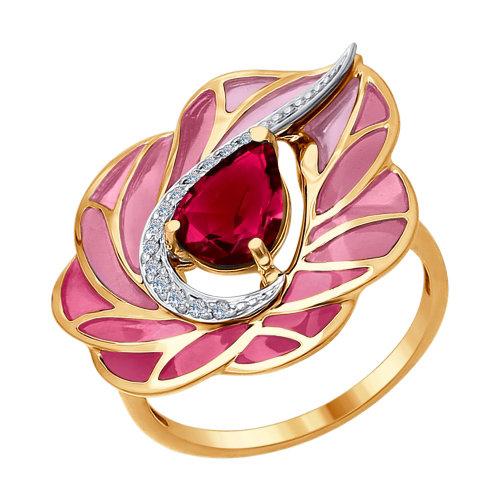 5e98e7c6587 Kombineeritud kullast sõrmus emaili, briljantide ja rubiiniga ...